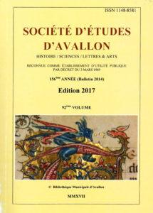 Bulletin de la Société d'études d'Avallon, 92e volume