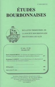 Etudes bourbonnaises, n° 352, décembre 2017