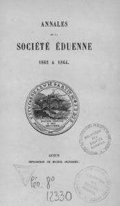 Annales de la Société éduenne