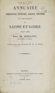 Annuaire administratif, statistique, agricole, industriel et historique de Saône-et-Loire