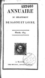 Annuaire du département de Saône-et-Loire