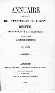Annuaire historique du département de l'Yonne