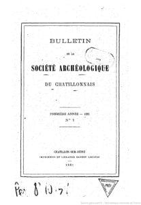 Bulletin de la Société archéologique et historique du Châtillonnais
