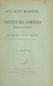 Bulletin de la Société des sciences historiques et naturelles de Semur