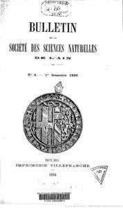 Bulletin de la Société des sciences naturelles de l'Ain