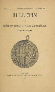 Bulletin de la Société des sciences naturelles & d'archéologie de l'Ain