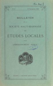 Bulletin de la Société haut-marnaise des études locales dans l'enseignement public