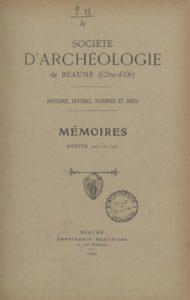 Mémoires – Société d'archéologie de Beaune