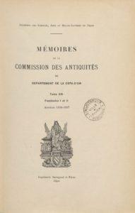 Mémoires de la Commission des antiquités du département de la Côte-d'Or