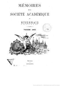 Mémoires de la Société académique du Nivernais