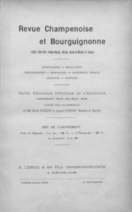 Revue champenoise et bourguignonne