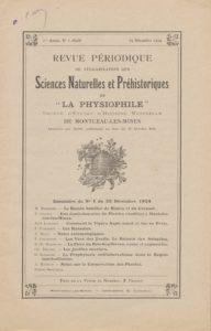 Revue périodique de vulgarisation des sciences naturelles et préhistoriques de la Physiophile