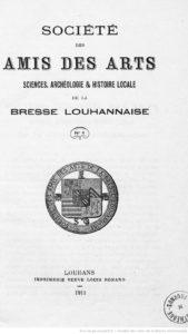 Société des amis des arts, sciences, archéologie et histoire locale de la Bresse louhannaise