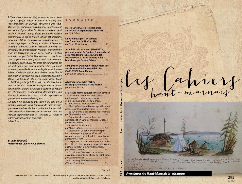 Les Cahiers haut-marnais, n° 293, 2019/2