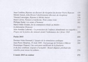 Académie de Mâcon Annales 2015