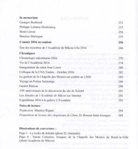 Académie de Mâcon Annales 2016
