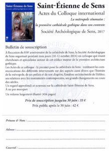 Société archéologique de Sens Saint-Etienne de Sens