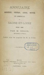 Annuaire administratif, commercial et historique du département de Saône-et-Loire