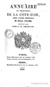 Annuaire du département de la Côte-d'Or