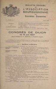 Bulletin - Association bourguignonne des sociétés savantes