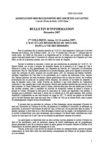 Bulletin d'information - Association bourguignonne des sociétés savantes