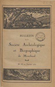 Bulletin de la Société archéologique et biographique de Montbard