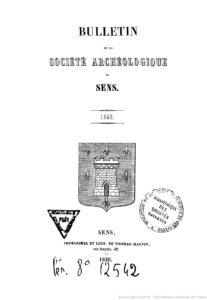 Bulletin de la Société archéologique de Sens