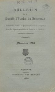 Bulletin de la Société d'études du Brionnais (Marcigny)
