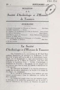 Bulletin de la Société d'archéologie et d'histoire de Tonnerre