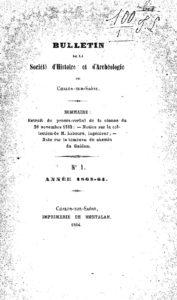Bulletin de la Société d'histoire et d'archéologie de Chalon-sur-Saône