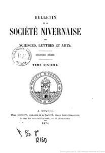 Bulletin de la Société nivernaise des sciences, lettres et arts