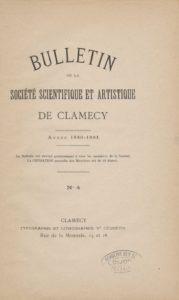 Bulletin de la Société scientifique et artistique de Clamecy