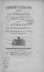 Compte rendu des travaux de la Société des sciences, arts et belles-lettres de Mâcon