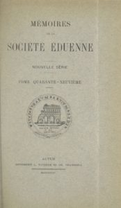 Mémoires de la Société éduenne (1872)