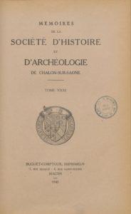 Mémoires de la Société d'histoire et d'archéologie de Chalon-sur-Saône