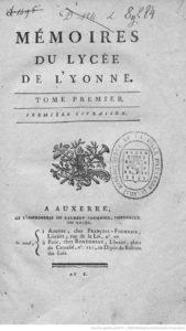 Mémoires du Lycée de l'Yonne