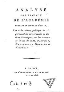 Notice de la séance publique tenue… par la Société libre d'agriculture, sciences et arts de Dijon